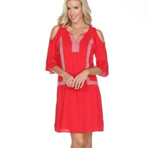 Red Plus Size Midi Dress PS863-04